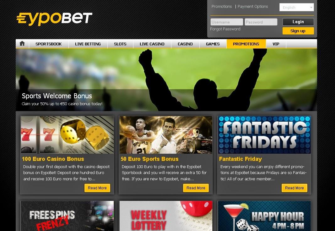 Eypobet Review and Sport Bonus €50