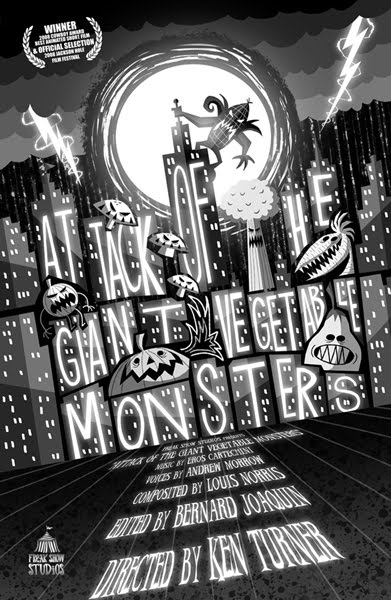 """Attack of the Giant Vegetable Monsters"" short film - *Click on poster to watch:"