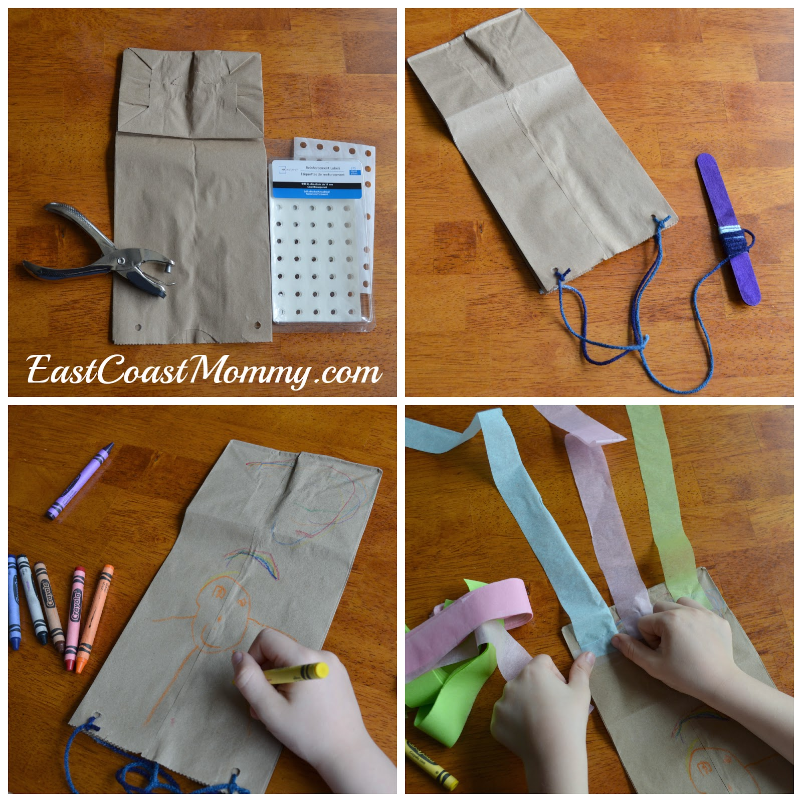 East coast mommy alphabet crafts letter k for Brown paper bag crafts for preschoolers