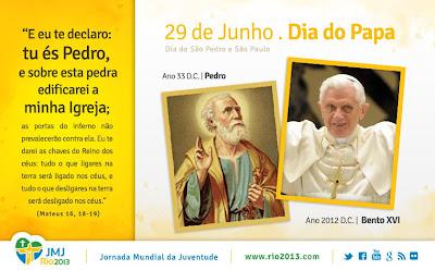 Hoje é dia do Papa