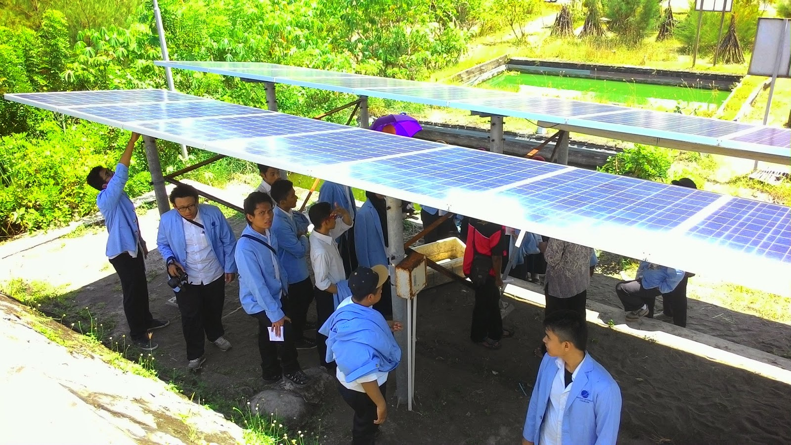 Solar Panel at PLTH Pandansimo Kab. Bantul Indonesia | Anggitabay