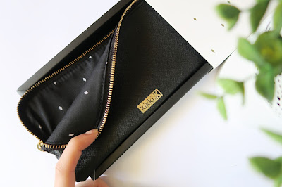24- 20th Birthday Haul Blog Post- Kikki K Black Leather Pencil Case