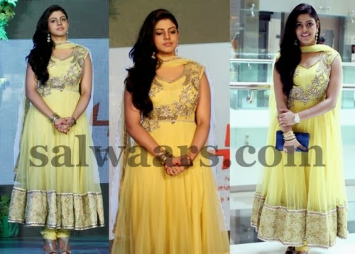 Iniya Lime Yellow Churidar