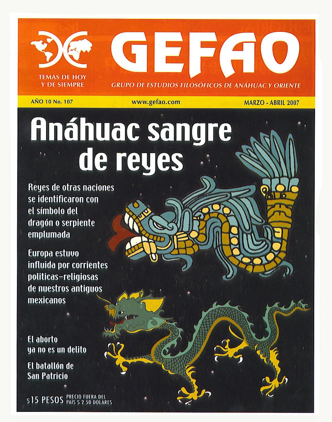 REVISTA GEFAO No.107 ANAHUAC SANGRE DE REYES
