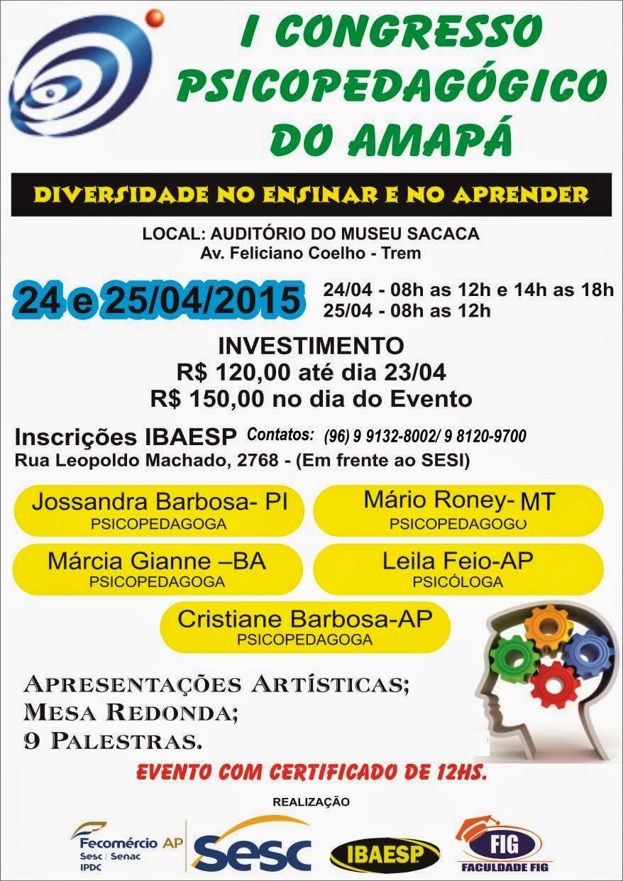 CONGRESSO DE PSICOPEDAGOGIA NO AMAPA