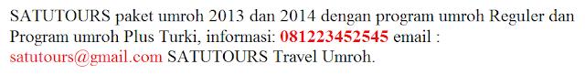 Info Paket Travel Umroh 2014