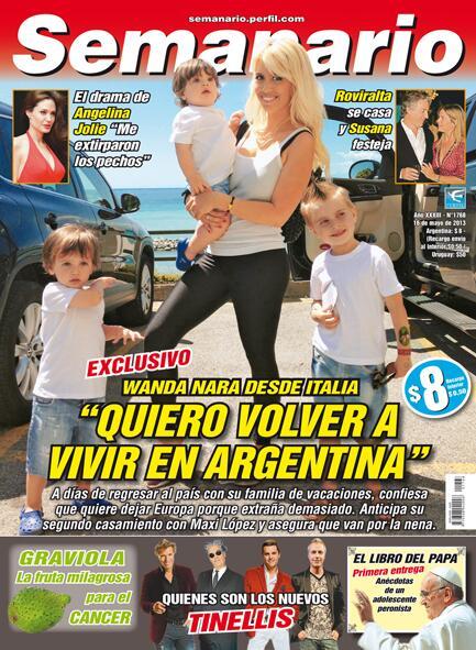 Wanda nara quiere volverse a argentina y lo cuenta en for Diarios del espectaculo