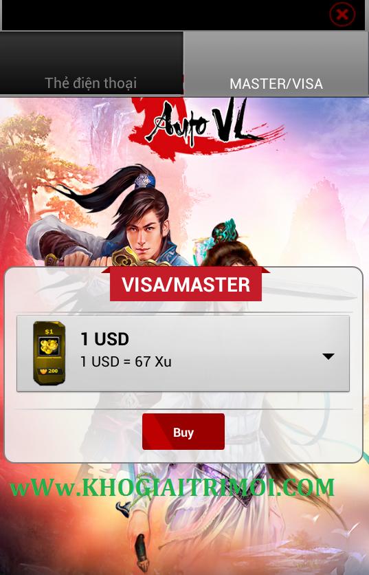 Hướng dẫn nạp KNB trong game Auto VL