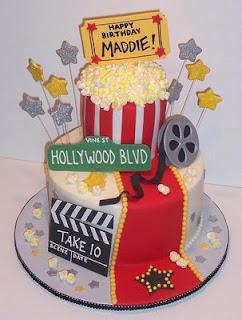 birthday party ideas,movie birthday party,party cake ideas,cake ideas,movie night party