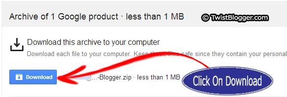 Click on Download Backup