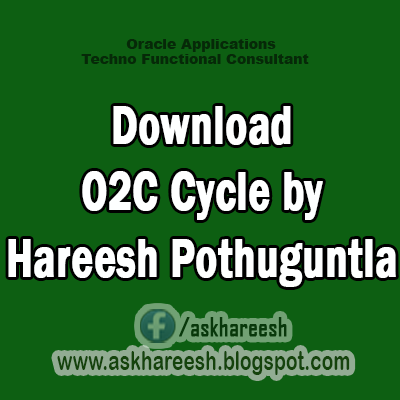 Download Order to Cash (O2C) Cycle by Hareesh Pothuguntla