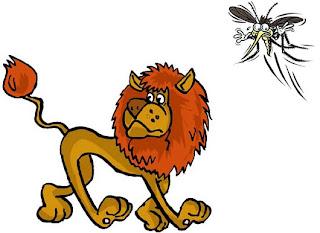 Fabula el Mosquito y el León