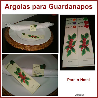 Guardanapos de natal em papel