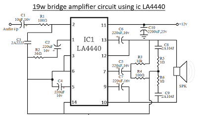 la4440 bridge amplifier circuit diagram why how diagram rh diagramhow blogspot com