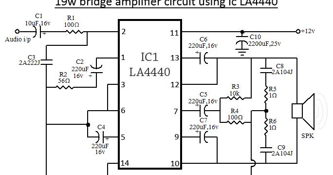 la4440 bridge amplifier circuit diagram
