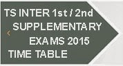 TS Inter 1st 2nd Year Supplementary Time Table 2015 Telangana