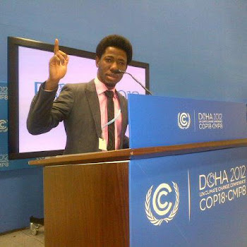 Ajiroba Daniel at COP18, Doha, Qatar