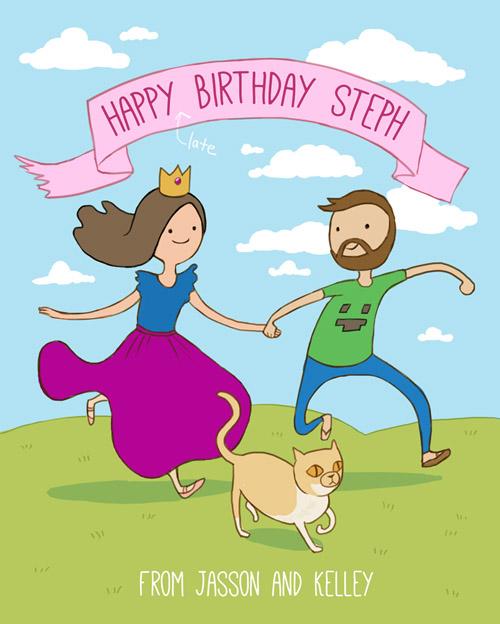 Kelley Mcmorris Illustration An Adventure Time Birthday Card
