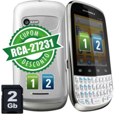 Cupom Efácil - Smartphone Motorola XT317 Fire Dual Chip