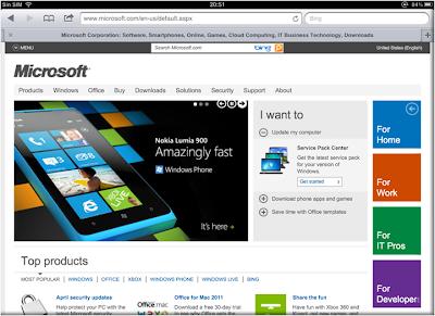 ¿Es la home de Microsoft o la de Nokia?