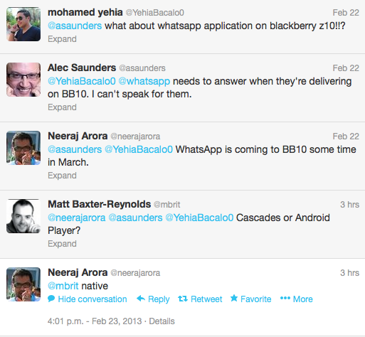 WhatsApp For BlackBerry 10 Confirmed To Arrive In March