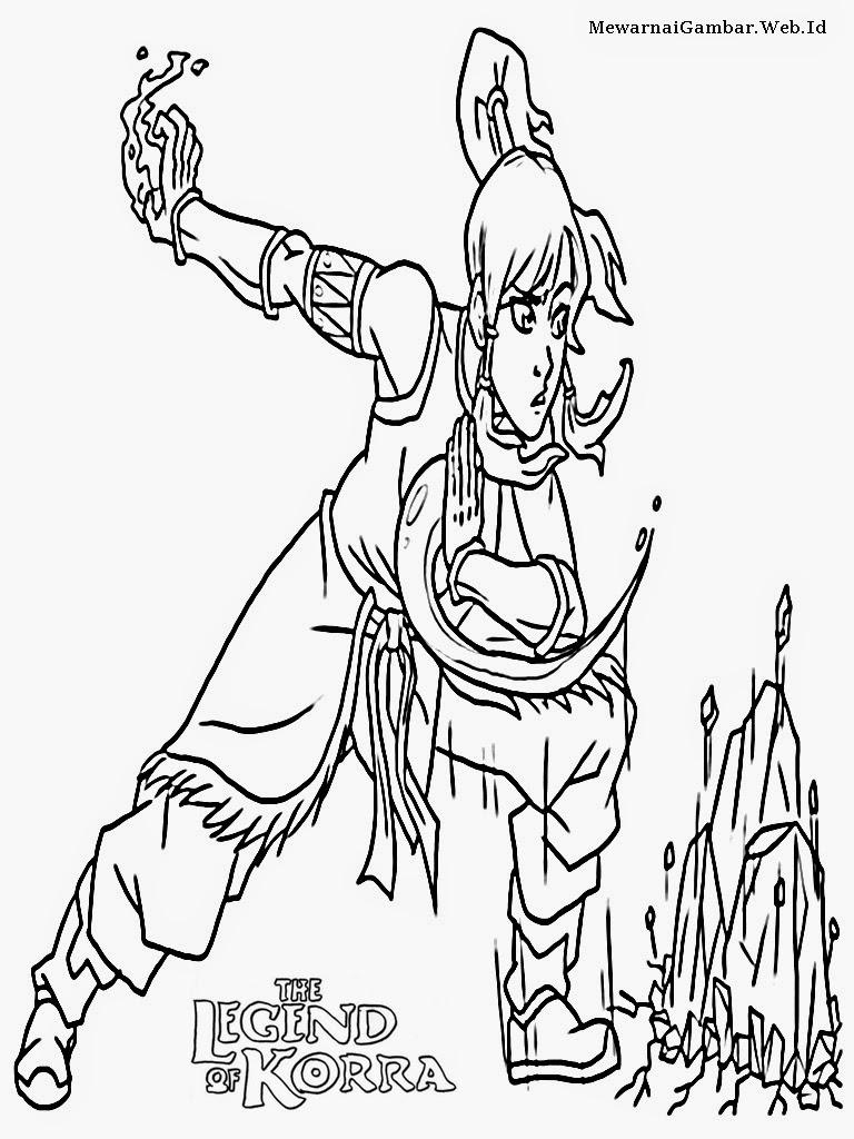 gambar the legend of korra untuk mewarnai