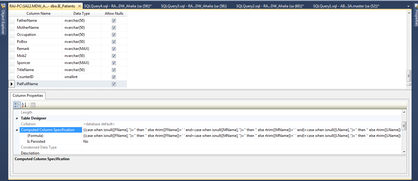 C Infrasolution Sql Server Computed Column Persisted
