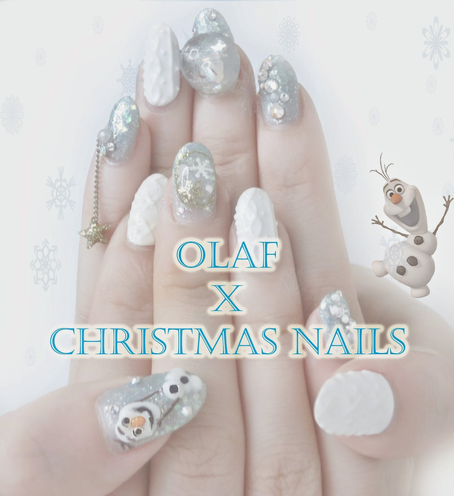Nails] OLAF x Christmas Nails by ShiningNails - Golly-Locks