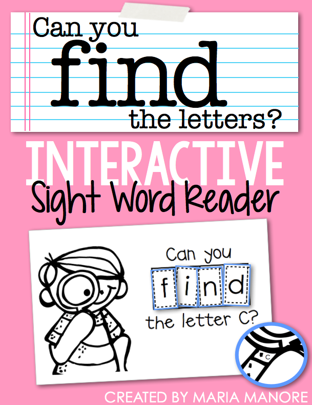 "emergent reader for sight word ""FIND"""