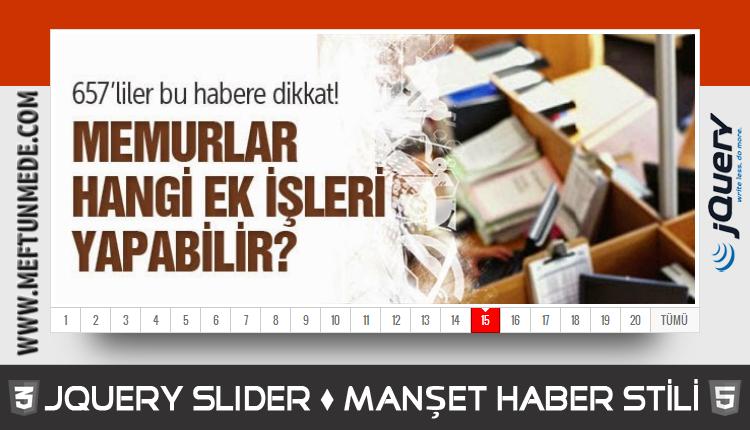 jQuery Haber Manşet Slider