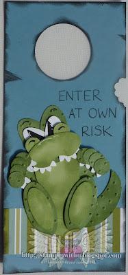 Crocodile Punch Art Dor Hanger