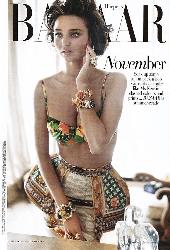 Miranda Kerr – Harper's Bazaar Australia Magazine