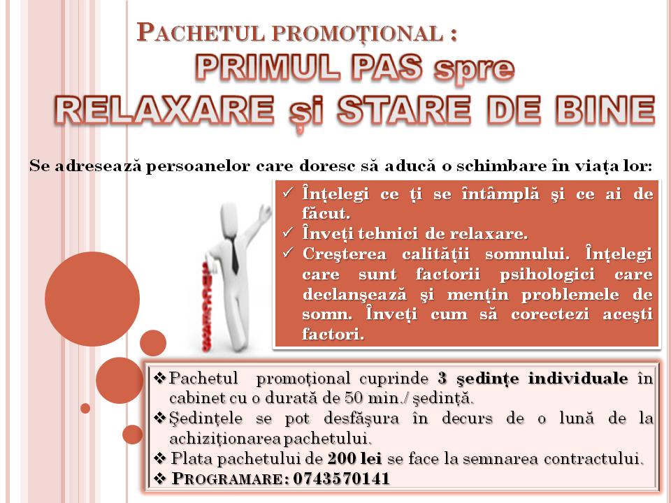 Pachet promotional_PRIMUL PAS spre RELAXARE si STARE DE BINE