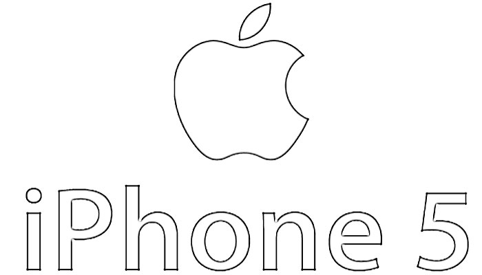 Apple IPhone 5 Logo Sketch - Image Sketch