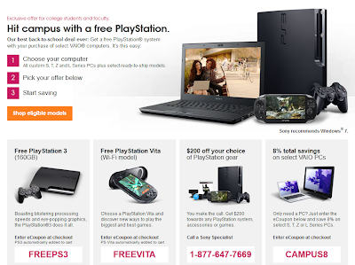 Sony back to school promotion