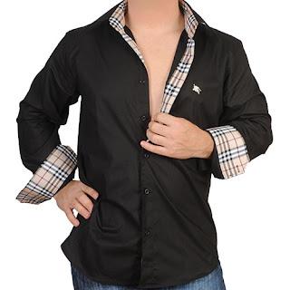 Mens of Label ShirtThe Burberry Mike Art Mignola Black ChdBtsQrox