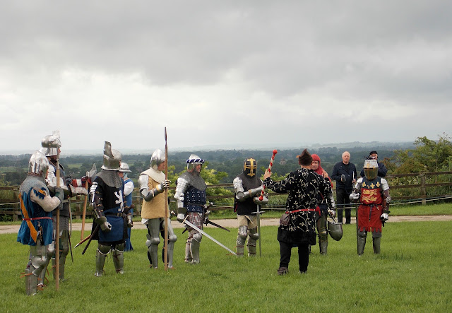 14th century medieval knights reenactment