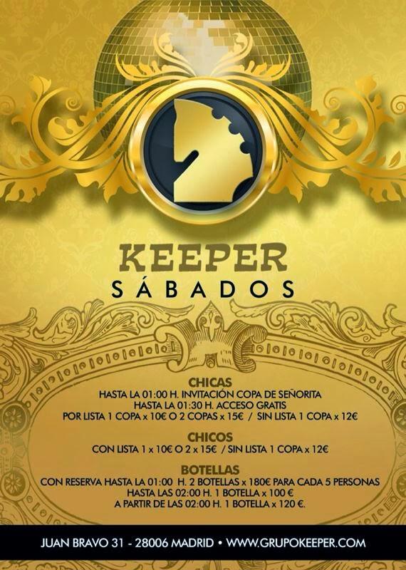 LISTAS KEEPER TODOS LOS SÁBADO