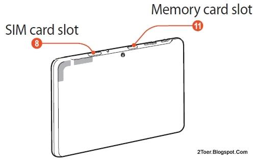 SIM Memory card  Slot Samsung Galaxy Tab 2 10.1 GT P5100
