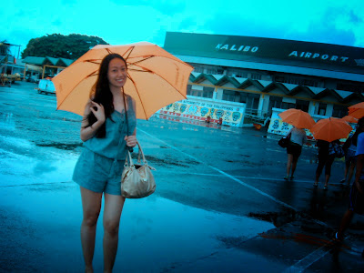 Trisha Sebastian in Kalibo International Airport