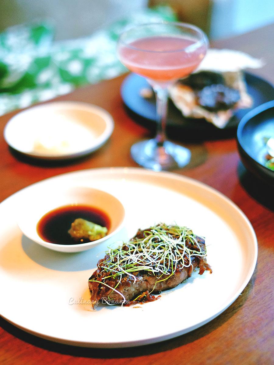 Kagoshima Beef with onion jam & ponzu (www.culinarybonanza.com)