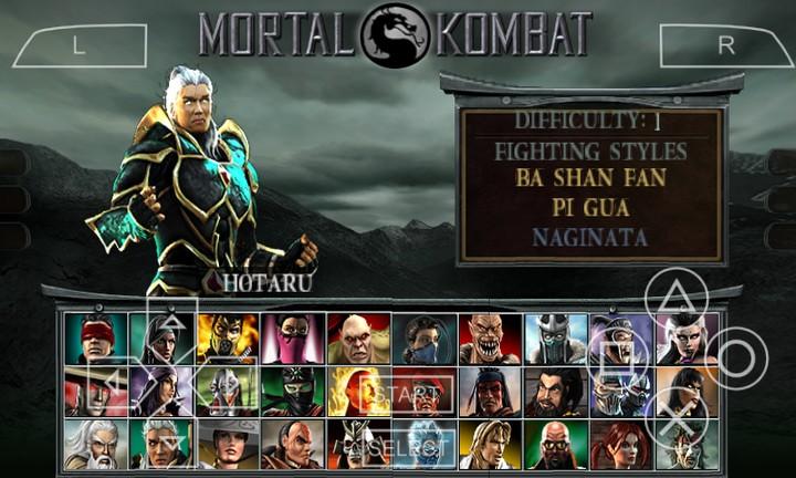 mortal kombat psp games free