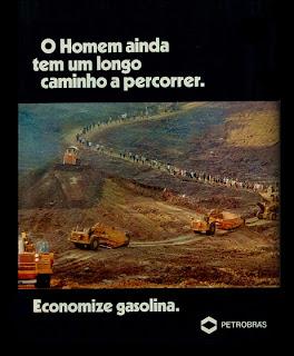 propaganda Petrobras - 1976.  reclame de carros anos 70. brazilian advertising cars in the 70. os anos 70. história da década de 70; Brazil in the 70s; propaganda carros anos 70; Oswaldo Hernandez;