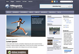 WMagazine Blogger Template