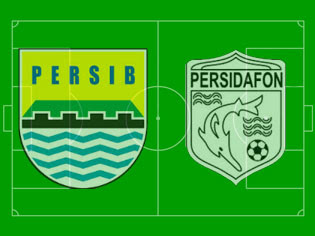 Pertandingan Persib vs Persidafon