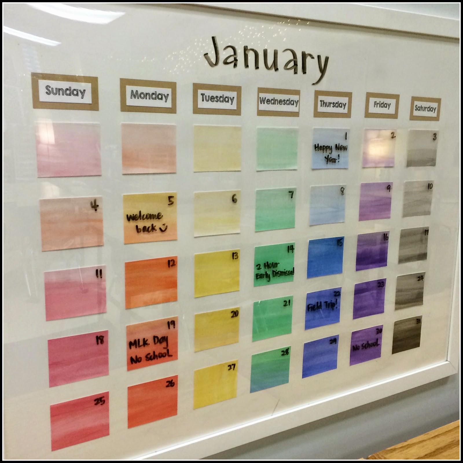 Classroom Calendar Ideas ~ Teacher classroom ideas and storage tips on pinterest