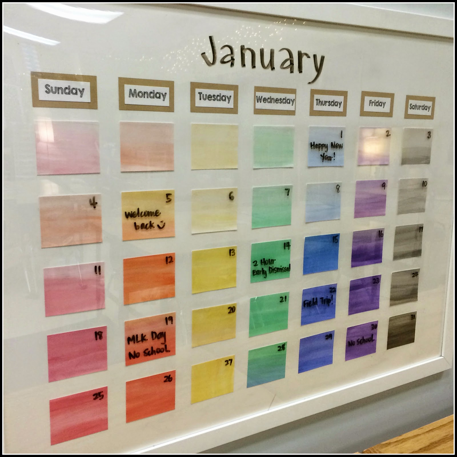 Diy Calendar For School : Teaching with a mountain view peek of the week