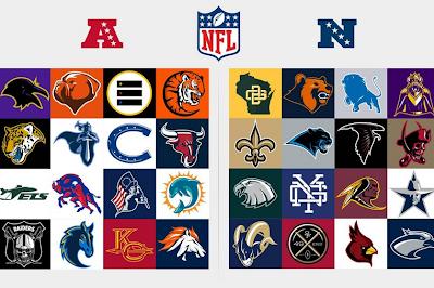 Rediseñan los 32 logos de las franquicias de la NFL