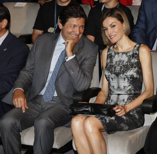 Queen Letizia of Spain attended the opening of the summer courses of the International School of Music of the Prince of Asturias Foundation at Conservatory of Music 'Eduardo Martínez Torner