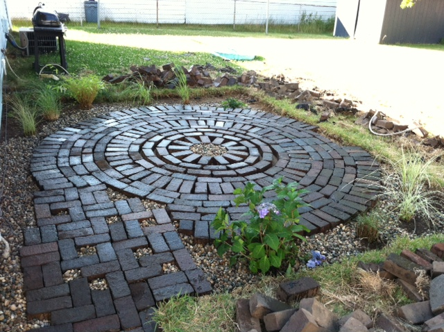 Creative Endeavors Brick Patio Tutorial